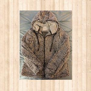 Thread & Supply Zip-Up Teddy Bear Style jacket.
